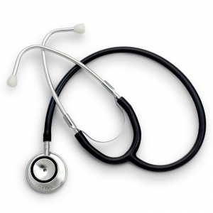 Stetoscop Little Doctor LD Prof I, stetoscop metalic utilizabil pe ambele parti, diafragma mare, Negru/Inox1