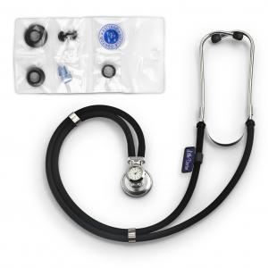 Stetoscop Little Doctor LD SteTime cu ceas, 2 tuburi, lungime tub 56cm, Negru/Inox1
