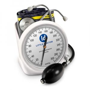 Tensiometru mecanic Little Doctor LD 100, stetoscop inclus, Suport de birou, Spatiu de depozitare manseta, Diametru manometru 11 cm, Alb0