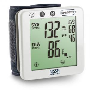 Tensiometru electronic de incheietura Nissei WSK 1011, memorare 2 x 60 de valori, clasificare OMS, detectarea aritmiei1