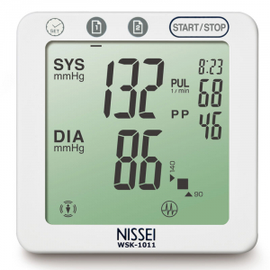 Tensiometru electronic de incheietura Nissei WSK 1011, memorare 2 x 60 de valori, clasificare OMS, detectarea aritmiei2