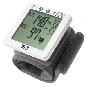Tensiometru electronic de incheietura Nissei WSK 1011, memorare 2 x 60 de valori, clasificare OMS, detectarea aritmiei0