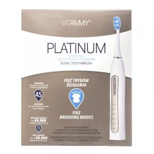 Periuta de dinti electrica VITAMMY Platinum, 48000 vibratii/min, 5 moduri de periaj, 2 capete incluse3