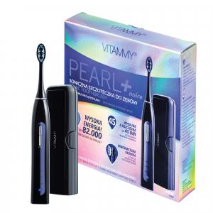 Periuta de dinti electrica VITAMMY Pearl+ Noire, 82000 vibratii/min, 3 moduri de periaj, 2 capete incluse, Negru [0]