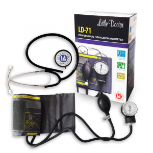 Tensiometru mecanic Little Doctor LD 71 profesional, stetoscop inclus, manometru din metal, husa de transport1