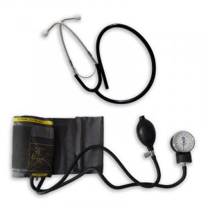 Tensiometru mecanic Little Doctor LD 71A, profesional, stetoscop atasat, manometru din metal4