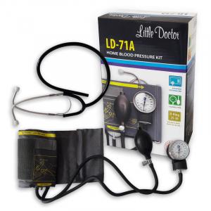 Tensiometru mecanic Little Doctor LD 71A, profesional, stetoscop atasat, manometru din metal3