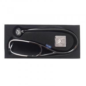 Stetoscop Little Doctor LD Cardio, profesional, 3 seturi de olive auriculare, o diafragma de schimb, placuta de identificare, Negru/inox4