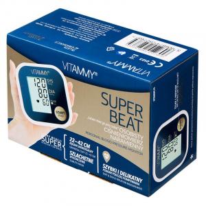 Tensiometru electronic de brat VITAMMY Super Beat, manseta 22-42 cm, Albastru/Auriu4