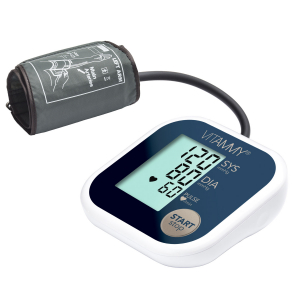 Tensiometru electronic de brat VITAMMY Super Beat, manseta 22-42 cm, Albastru/Auriu0