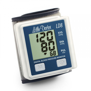 Tensiometru electronic de incheietura Little Doctor LD 8, Afisaj LCD, Memorare 90 de valori, Algoritm Fuzzy, Cutie de depozitare0