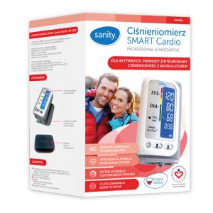 Tensiometru electronic de brat Sanity Smart Cardio, 120 memorii, Display LCD, sistolic - diastolic, Alb2