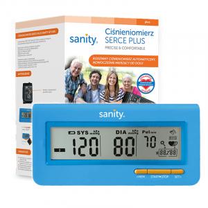 Tensiometru electronic de brat Sanity Serce Plus, 60 seturi de memorie, tehnologie FDS, Albastru [1]