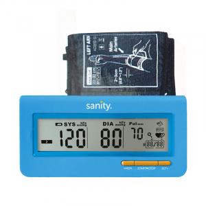 Tensiometru electronic de brat Sanity Serce Plus, 60 seturi de memorie, tehnologie FDS, Albastru [0]