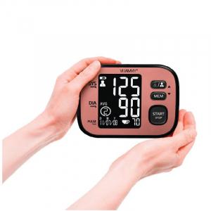 Tensiometru electronic de brat VITAMMY Ultra Cosmo, manseta 22-42 cm, Negru/Roz [2]