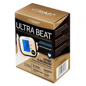 Tensiometru electronic de brat VITAMMY Ultra Beat, manseta 22-42 cm, Negru/Auriu4