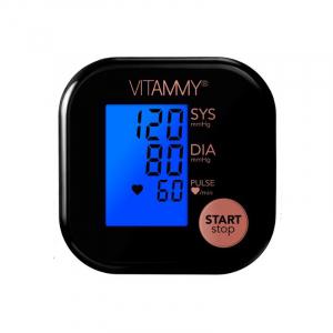 Tensiometru electronic de brat VITAMMY Ultra Beat, manseta 22-42 cm, Negru/Roz1