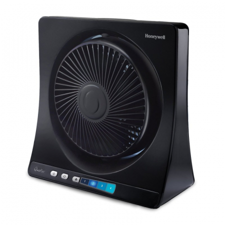 Ventilator de birou Honeywell HT354E, 4 viteze, 33 cm, zgomot redus, Negru0
