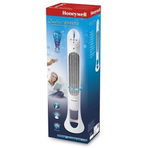 Ventilator turn Honeywell HYF260E, 5 viteze, zgomot redus, inaltime 101 cm, Alb2