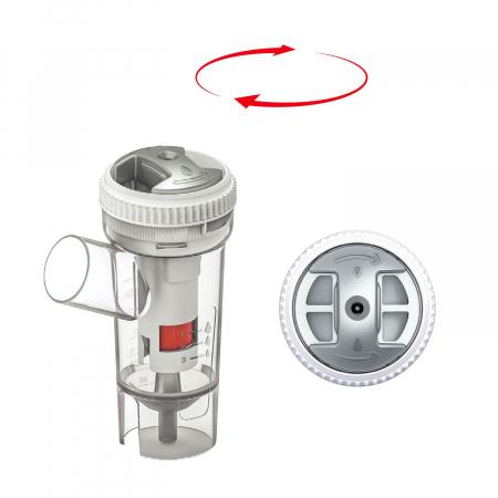 Aparat aerosoli FLAEM 4NEB, nebulizator profesional cu compresor, 4 moduri de nebulizare, reglarea particulelor [8]