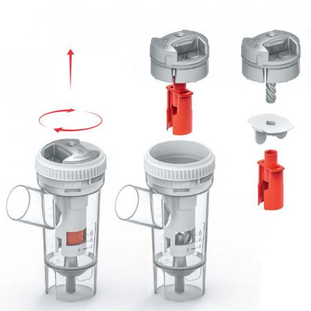 Aparat aerosoli FLAEM 4NEB, nebulizator profesional cu compresor, 4 moduri de nebulizare, reglarea particulelor [9]