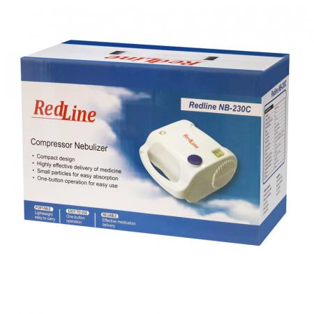 Aparat aerosoli RedLine NB-230C PRO, masca copii si adulti, kit PRO cu furtun de 6m si masca bebelusi, nebulizator cu compresor5