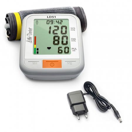 Pachet tensiometru electronic de brat Little Doctor LD 51 cu adaptor priza0