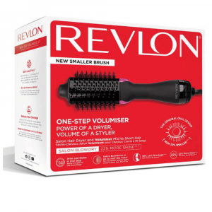 Perie electrica fixa REVLON pentru par mediu spre scurt One-Step Volumiser, RVDR5282UKE4