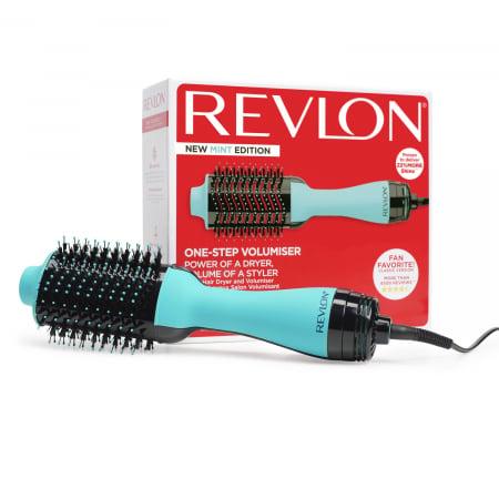 Perie electrica fixa REVLON One-Step Hair Dryer & Volumizer, RVDR5222MUKE MINT, pentru par mediu si lung