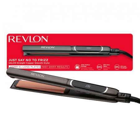 Placa de indreptat parul REVLON Salon Straight Copper Smooth Styler RVST2175E2, afisaj LCD [0]