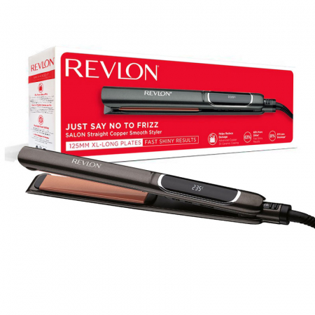 Placa de indreptat parul REVLON Salon Straight Copper Smooth Styler RVST2175E2, afisaj LCD [3]