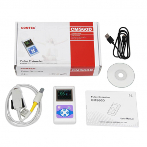 Pulsoximetru profesional Contec CMS60D, senzor adulti, pediatric si neonatal, cablu de extensie3