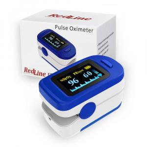 Pulsoximetru RedLine FS20C, alb-albastru, indica nivelul de saturatie a oxigenului, masoara rata pulsului [3]