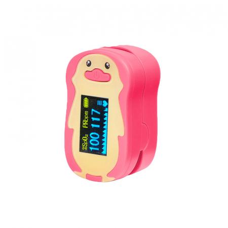 Pulsoximetru RedLine FS20P, pentru copii 2-12 ani, roz, Indica nivelul de saturatie a oxigenului din sange, Masoara rata pulsului [3]