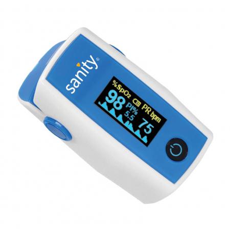 Pulsoximetru Sanity Duo Control, copii 3 ani + si adulti, masoara nivelul de saturatie a oxigenului si rata pulsului, Ecran OLED [2]