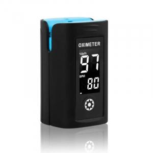 Pulsoximetru Vitammy Creative PC60A, indica nivelul de saturatie a oxigenului, masoara rata pulsului, Negru [1]