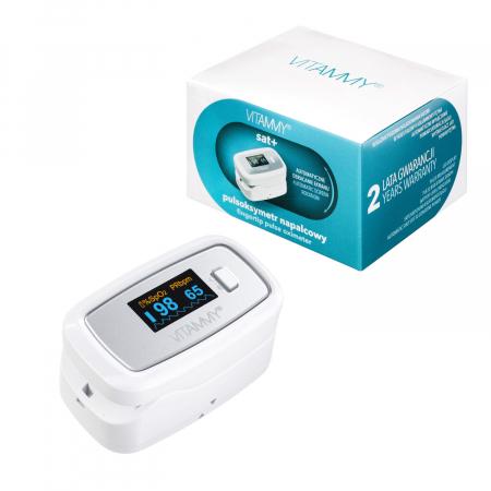 Pulsoximetru Vitammy Sat Plus, rezistent, rotire automata a ecranului, indica nivelul de saturatie a oxigenului, masoara rata pulsului [3]
