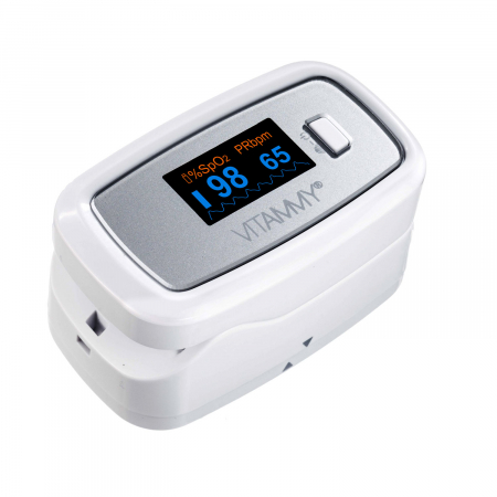 Pulsoximetru Vitammy Sat Plus, rezistent, rotire automata a ecranului, indica nivelul de saturatie a oxigenului, masoara rata pulsului [0]