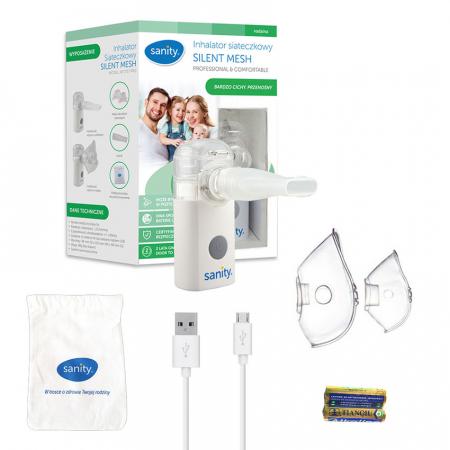 Aparat aerosoli cu tehnologie mesh Sanity Silent Mesh AP 2717 PRO, dimensiuni reduse, cablu USB [4]