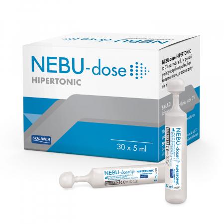Solutie salina hipertonica Solinea NEBU-dose concentratie 3%, 30 monodoze x 5 ml [0]