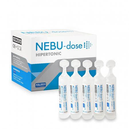 Solutie salina hipertonica Solinea NEBU-dose concentratie 3%, 30 monodoze x 5 ml [3]