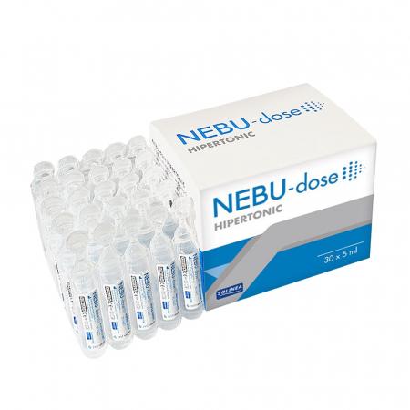 Solutie salina hipertonica Solinea NEBU-dose concentratie 3%, 30 monodoze x 5 ml [2]