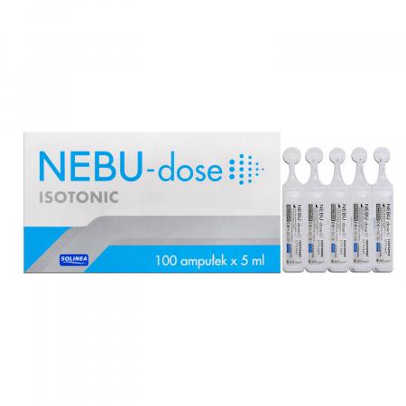 Ser fiziologic izotonic Solinea NEBU-dose concentratie 0.9%, 100 monodoze x 5 ml [5]