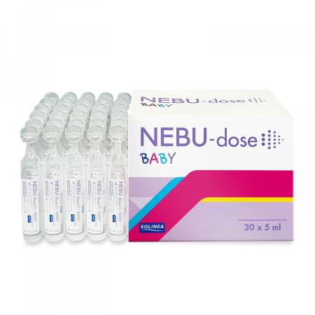 Solutie salina Solinea NEBU-dose Baby concentratie 1.5 %, 30 monodoze x 5 ml [2]