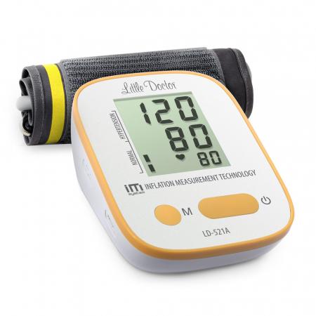 Tensiometru electronic de brat Little Doctor LD-521A,  adaptor inclus, Algoritm IMS, memorare 90 de valori, manseta 22 - 42 cm [3]