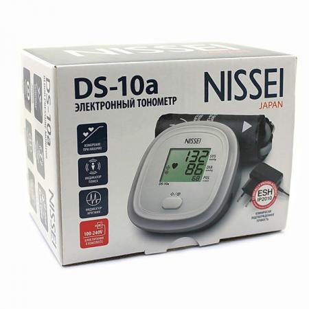 Tensiometru electronic de brat Nissei DS 10a, Afisaj LCD, detectie body motion, Alimentator inclus, Alb [2]