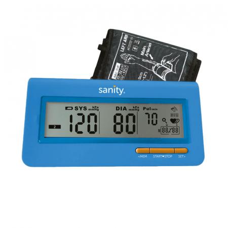 Tensiometru electronic de brat Sanity Serce Plus, 60 seturi de memorie, tehnologie FDS, Albastru [3]