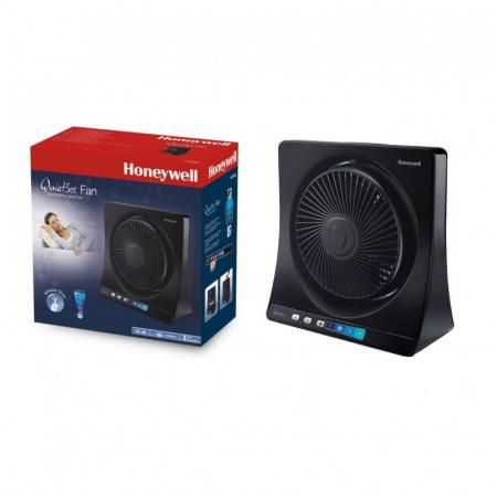 Ventilator de birou Honeywell HT354E, 4 viteze, 33 cm, zgomot redus, Negru1