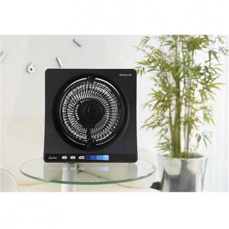 Ventilator de birou Honeywell HT354E resigilat, 4 viteze, 33 cm, zgomot redus, Negru [2]