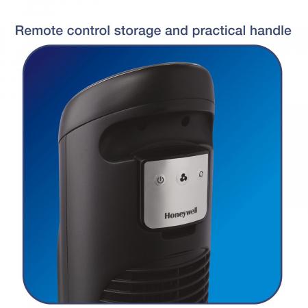 Ventilator turn Honeywell HYF290E QuietSet resigilat, 8 viteze, timer, 101 cm, zgomot redus, Negru [2]